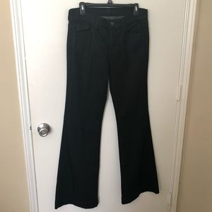 7 For All Mankind Ginger Black Flare Jeans 30 EUC